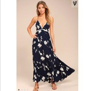 Lulus Winding Vines Embroidered Maxi Dress